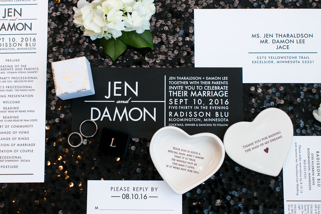Black, White & Chic All Over Wedding